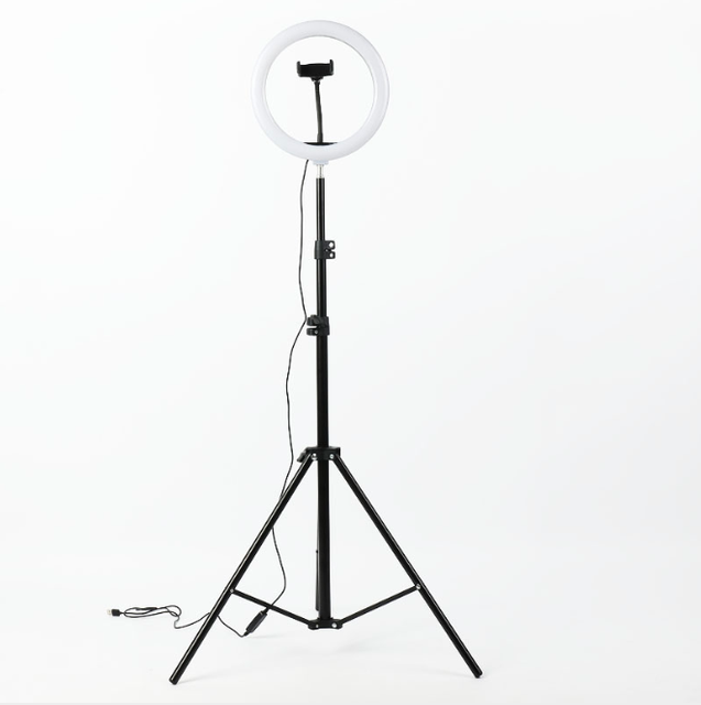 Photography LED Ring Lamp Dimmable Selfie Ring Light with Tripod Phone Holder For Youtube Video Shooting Live Makeup Wedding