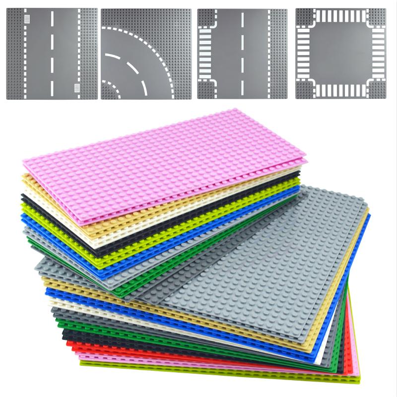 Classic Road Base Plates Plastic Bricks city street Baseplates Compatible All Brand dimensions Building Blocks Construction dots