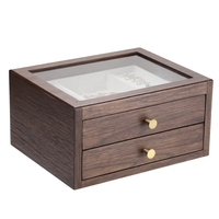 Wood Jewelry Box Retro Style Large Multilayer Marriage Holiday Gift Makeup Organizer Storage Box Case