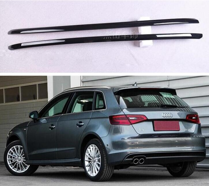Aluminum Alloy Paste Installation Roof Rack baggage luggage For AUDI A3 Hatchback 2014 2015 2016 2017 2018 2019 (Black Silver) image