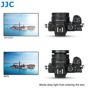 Image 5 - JJC ABS pare soleil à visser pour appareil photo Nikon Z50 + objectif Nikkor Z DX 16 50 F/3.5 6.3 VR remplacer Nikon HN 40 protecteur dombre dobjectif