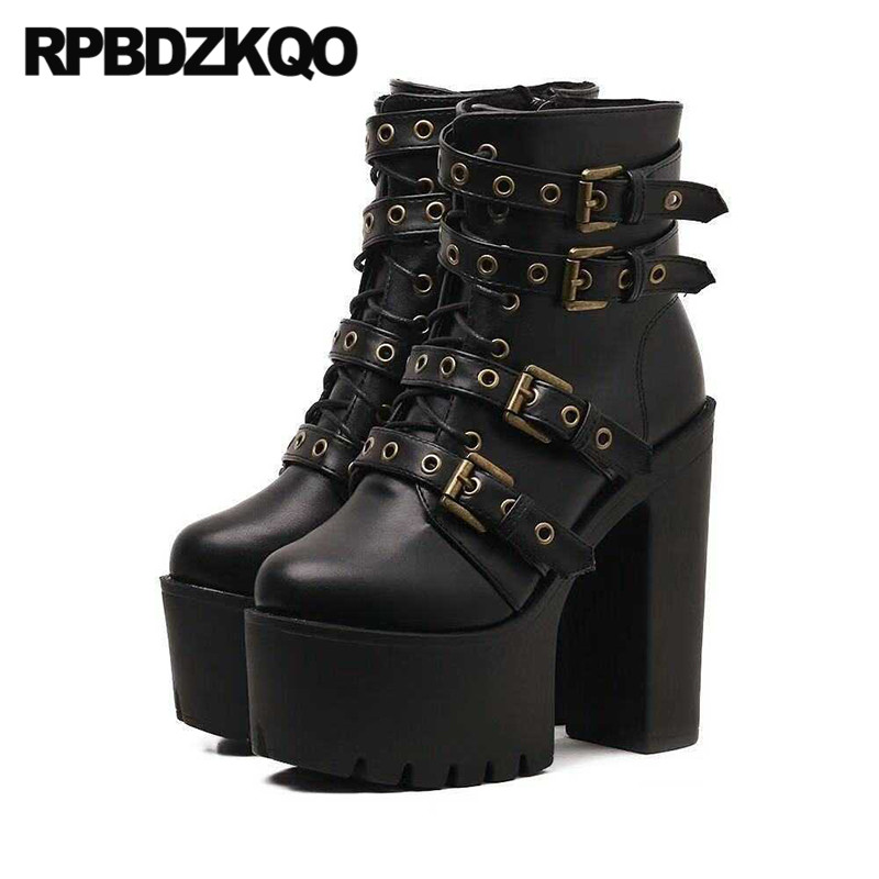 gothic goth shoes belts motorcycle