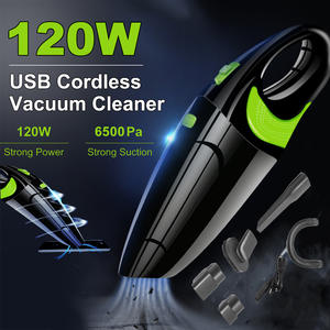 Car-Vacuum-Cleaner Powerful Cordless Handheld Rechargeable 6500pa USB Wet Home 120W Dry-Use