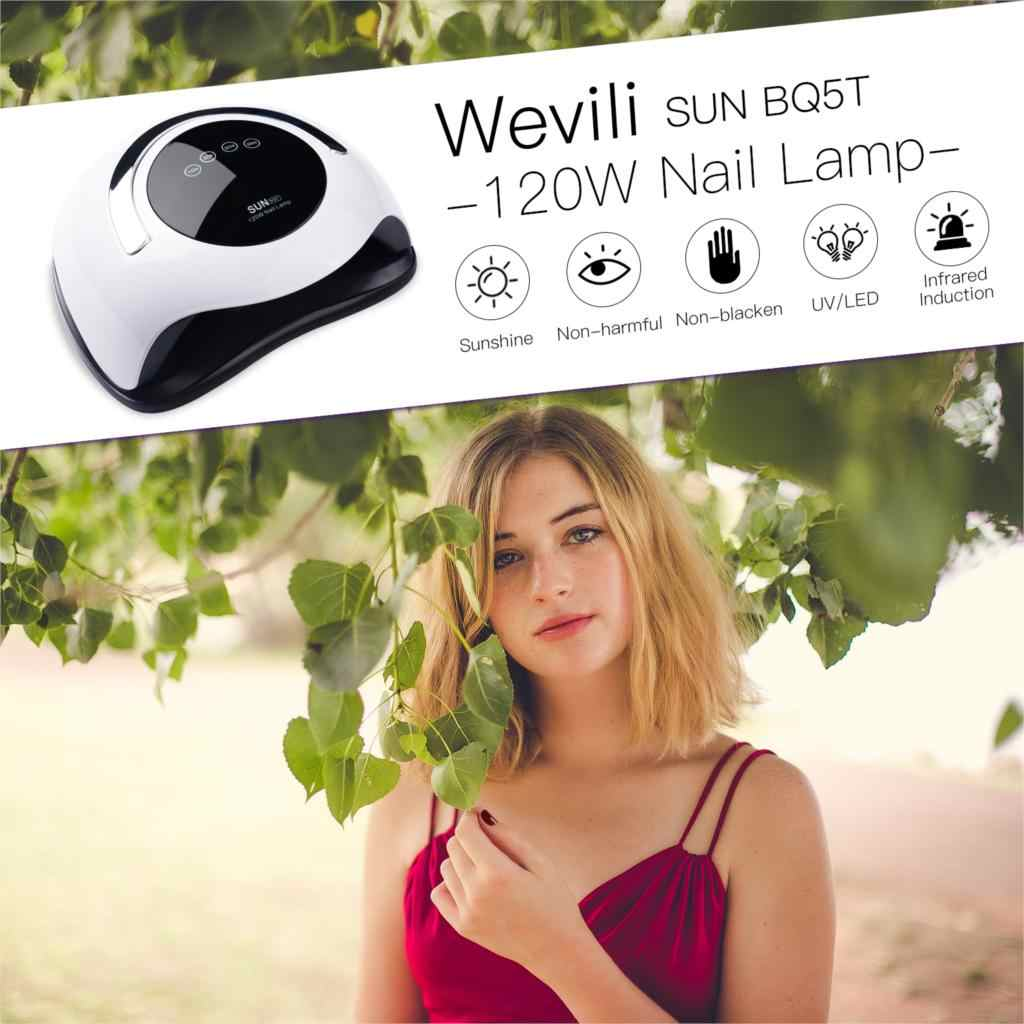 120W LED UV Nail Lamp for All Gels Polish with Timer Fast Curing Nail Dryer High Power Auto Sensing Gel Light Nail Lamp Tools