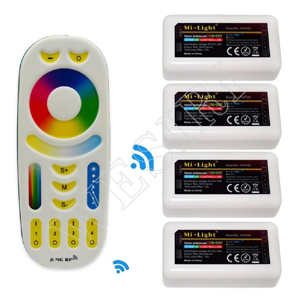 Mi Light 2.4G RGBW Touch Remote CCT Control RF 4 Zones RGBW RGB CCT Dual WHITE