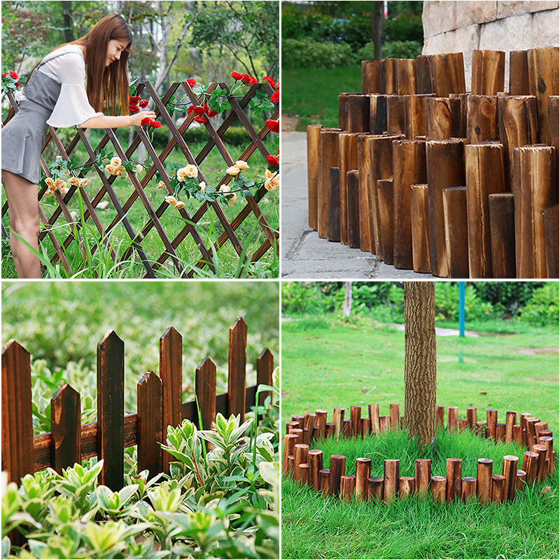 Solid Wood Fencing Diy Tree Potted