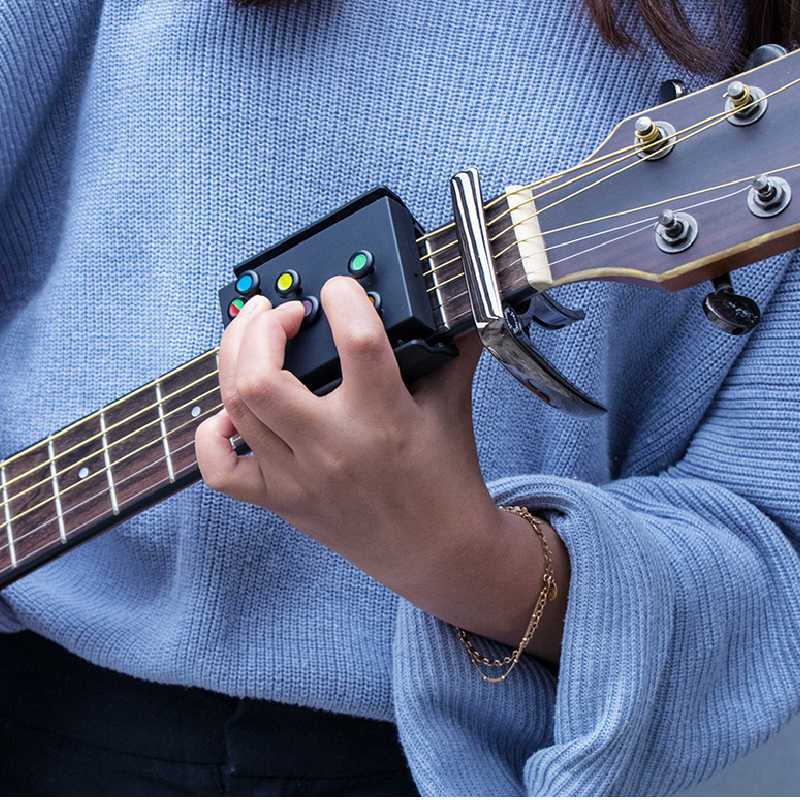 HHoo88 New Guitar Learning System Teaching Practice Aid with 21 Chords for Beginner Guitar Classical Guitar Teaching Aid Accessories