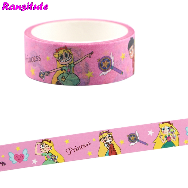 Ransitute Cartoon Cute Fashion Washi Paper Tape Office Masking Tape DIY Photo Album Scrapbook Decoration R703