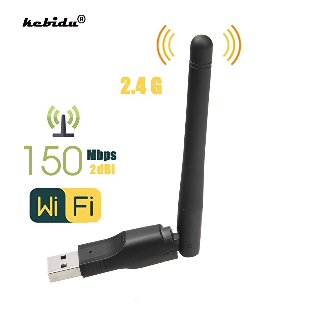 Kebidu WIFI USB Adapter Network-Card Rotatable-Antenna MT7601 150mbps New Wireless  title=