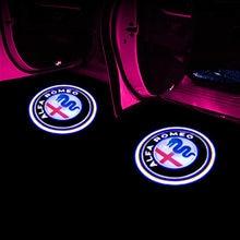 Karşılama ışığı Alfa Romeo için LED araba kapı hoşgeldiniz ışık Logo projektör Giulia Giulietta Mito Stelvio Brera 147 156 159 şekillendirici