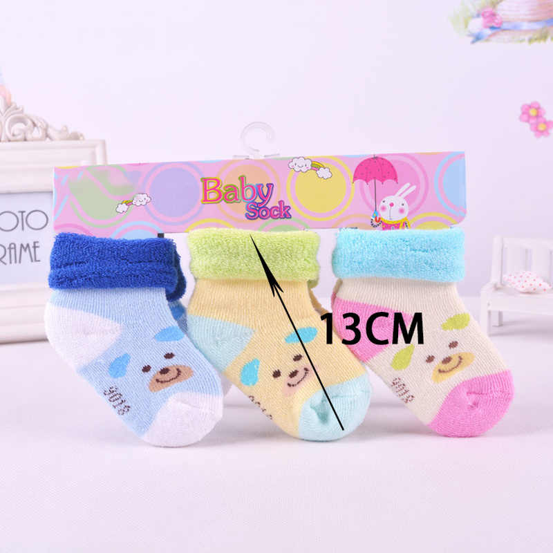 Calcetines gruesos de algodón para bebés, 1 unidad, calcetines cálidos de algodón para bebés, gatos y perros, calcetines bonitos para niños y niñas