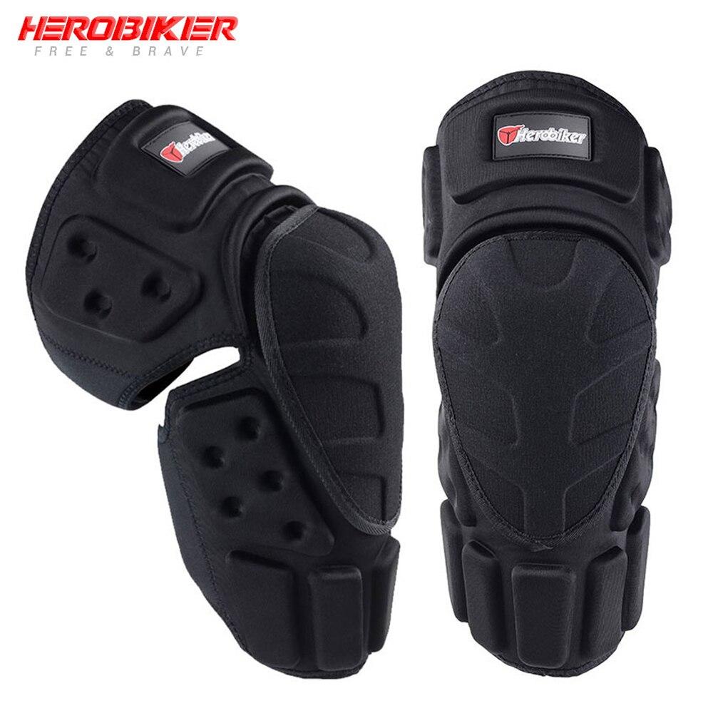 HEROBIKER Motorcycle Knee Pads Motocross Knee Protector Guard Moto Knee Protector Protective Gear Motorbike Ridng Knee Black