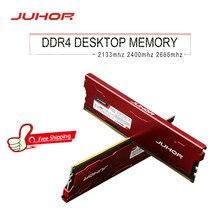 JUHOR memoria ram ddr4 1 GB 2GB 4GB 8GB 16GB 32GB de memoria 2133mhz 2400mhz 2666mhz dimm rams con disipador de calor