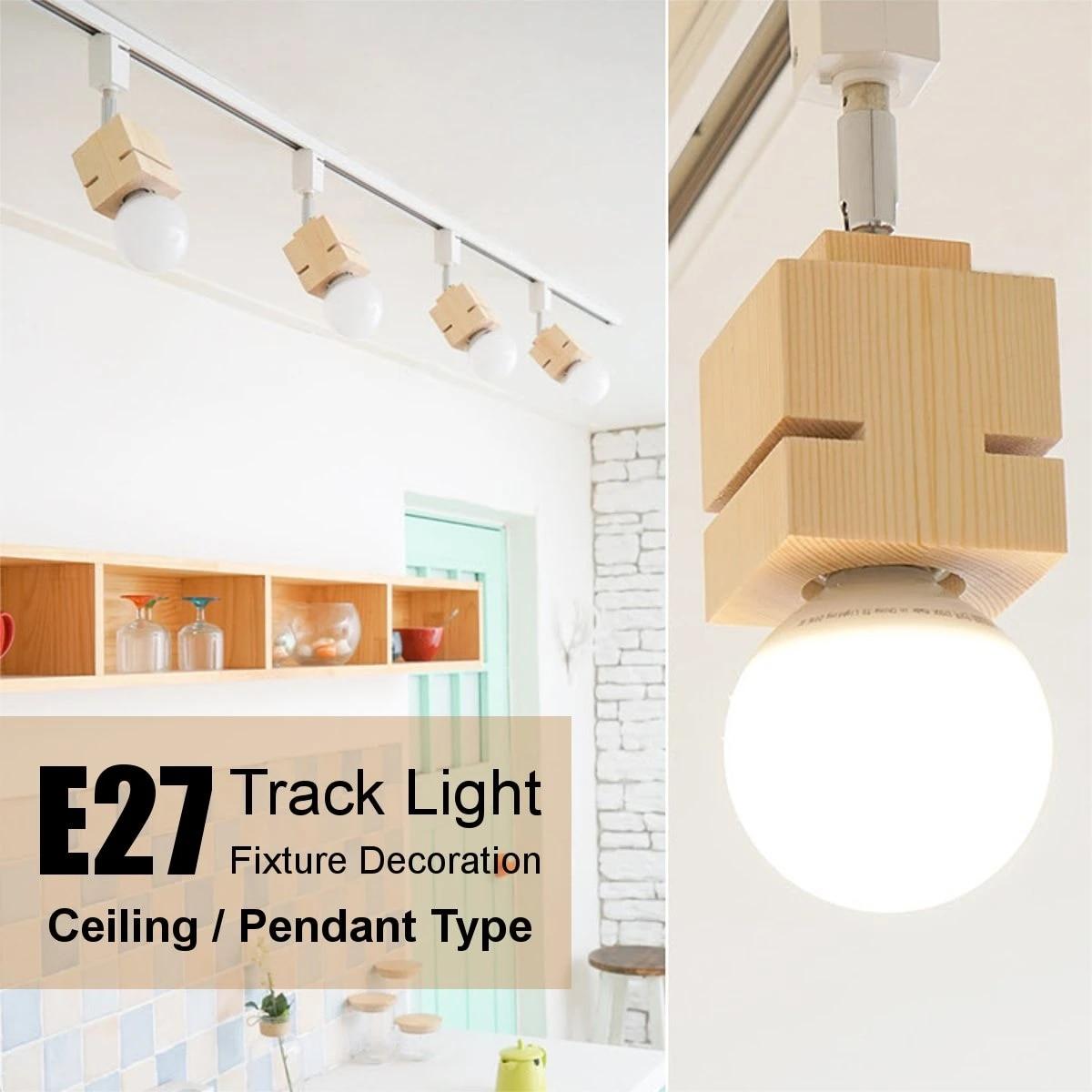 E27 Track Light Ceiling Pendant Lamp Home Bedroom Chandelier Fixture Decoration Home Bar Track Lighting Pendant Lights 85 265v Track Lighting Aliexpress