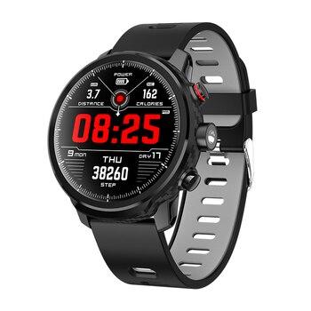 LEMFO Full Touch Screen Smart Watch IP68 Waterproof Smartwatch Support Multiple Sports Modes Heart Rate Monitoring for Men Women