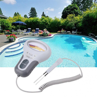 Chlorine Tester, PH & Chlorine Cl2 Level Meter Tester Test Monitor Swimming Pool Spa Water Monitor with Probe