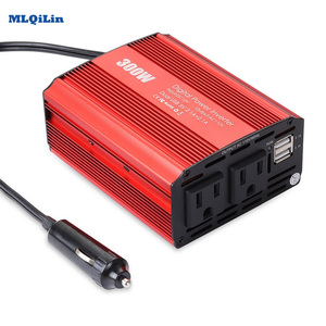Dual USB 300W Watt DC 12V to AC 110V Portable Car Power Inverter Charger Converter Adapter DC 12 to AC 110 Modified Sine Wave