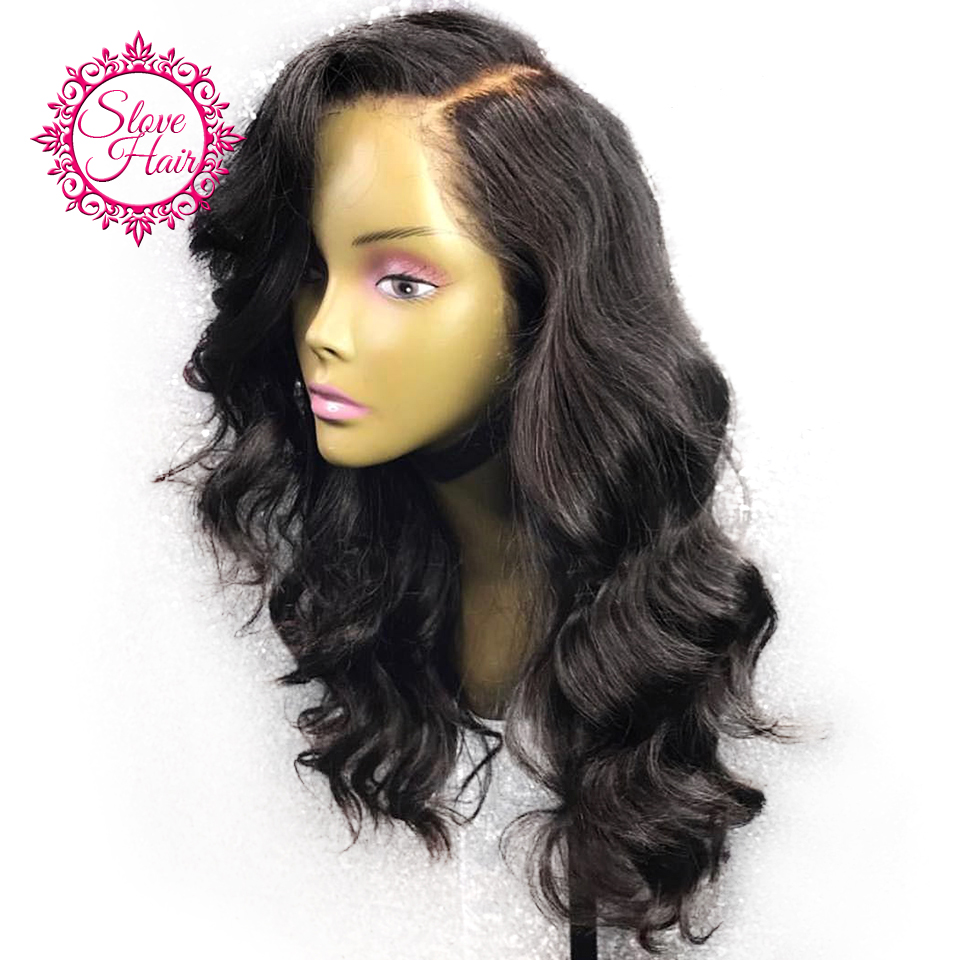 13*4 Body Wave Lace Front Human Hair Wigs For Women Natural Black Lace Wigs Pre Plucked With Baby Hair Remy Brazilian Slove
