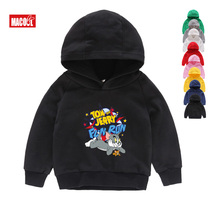 Kids Hot Cartoon Mouse Cat Printing Cotton Hoodies Children Winter Sweatshirt Boys Girls Sports Clothing for Music