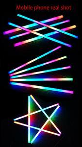Image 4 - سيمفونية الهيكل أضواء المغناطيسي RGB قطاع 40 سنتيمتر التلوث الغلاف الجوي 5 فولت أو 12 فولت ASUS AURA مزامنة