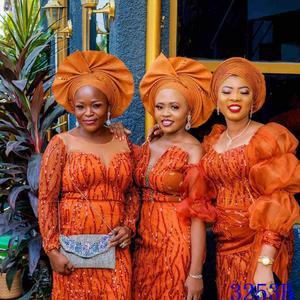 2020 de alta qualidade africano lantejoulas tecido do laço francês net bordado tule tecido renda para vestido festa casamento nigeriano amy3253b