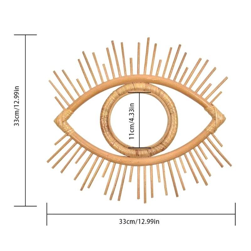 Rattan inovador arte decoração olho forma maquiagem