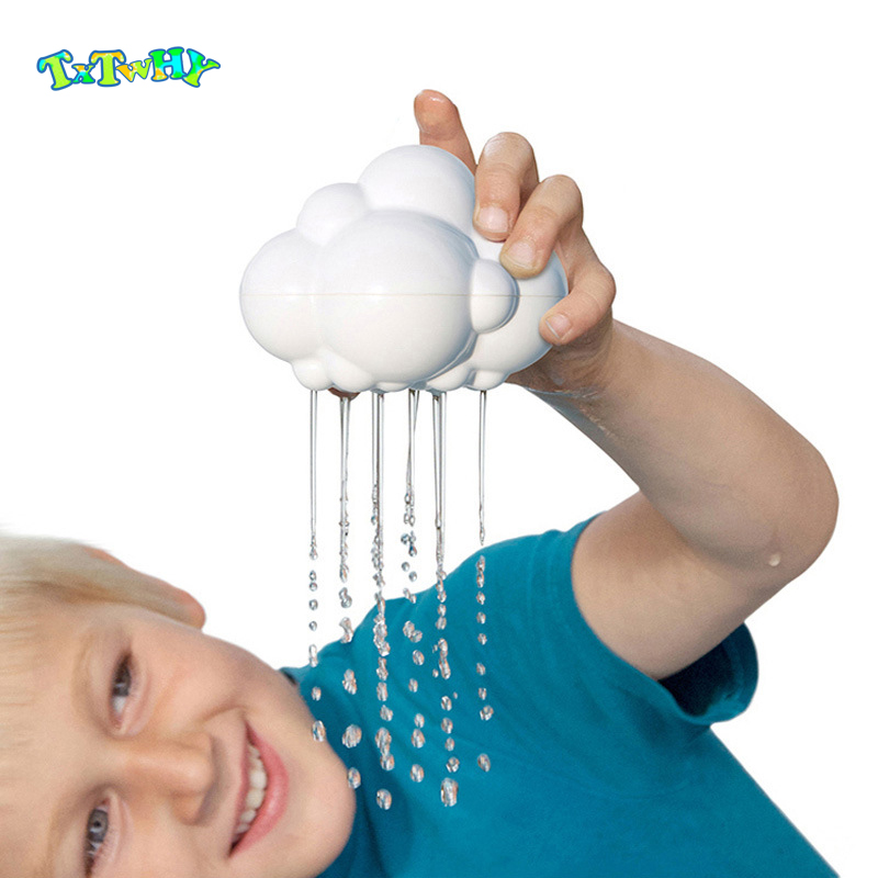 Baby Bath Toys For Children Rubber Cloud Rainbow Raindrops Beach Toys Water  For Kids Swiming Pool Water Game Swimming Toys