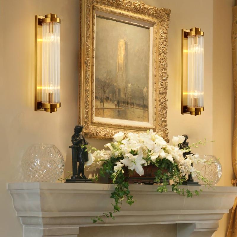 Moderne licht luxe wandlamp Nordic gecontracteerd zitkamer achtergrond muur gang balkon trap slaapkamer nachtkastje kristallen - 5