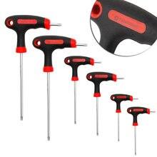 T handle grip torx & шестигранный ключ отвертка инструмент t10/15/20/25/30/40
