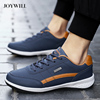 JOYWILL PU Leather Mens Sneakers Trend Casual Shoes Outdoor Breathable Leisure Male Sneakers Non-slip Men Vulcanized Footwear