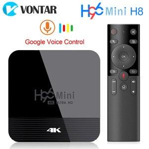 Image 1 - Vontar h96 mini h8 android 9.0 caixa de tv inteligente 2gb 16 rockchip rk3328a 1080p 4k bt wifi google store h96mini 1g8g conjunto caixa superior