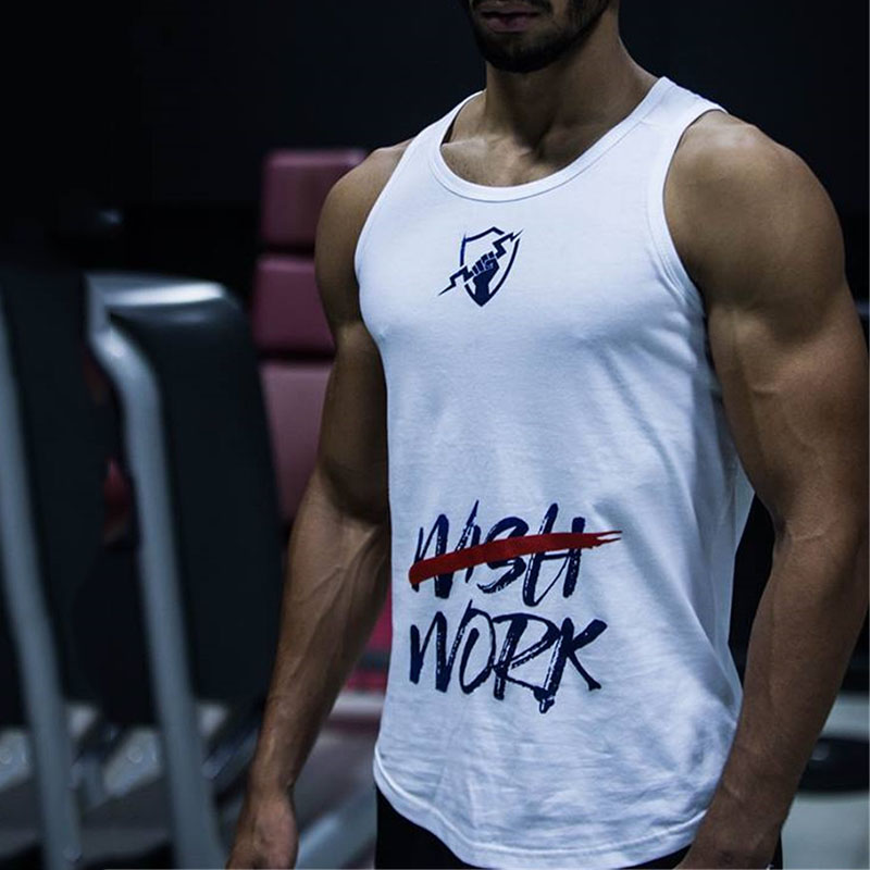 GYMOHYEAH Cotton Gyms   Tank     Tops   Men Sleeveless Tanktops For Boys Bodybuilding Clothing Undershirt Fitness Vest Male   Tanks