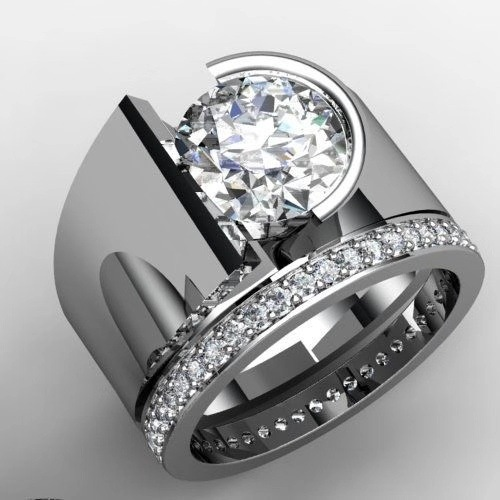 Luxruy Female Male Couple Rings For Women Party Gift Round Zircon Stone Rings Exquisite Crystal Wedding Engagement Fashion Ring