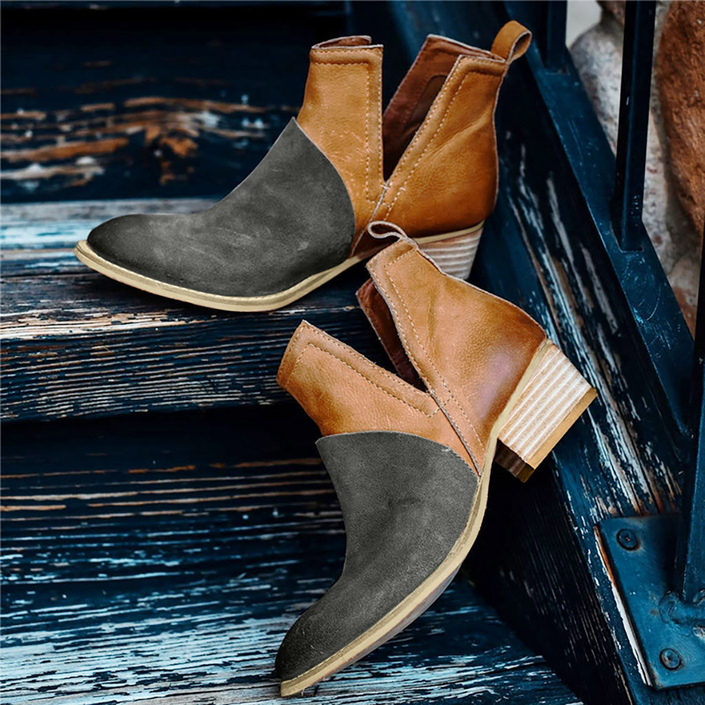 Jaycosin Roman shoes women ladies shoes Leisure Fashion Joint Thick Square Heel Boots women shoes woman chaussures femme 927 1