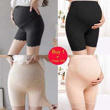 Woman Maternity Leggings Short Length Soft Adjustable Waist Pregnant Pregnancy Clothes Pants Ropa Enceinte Mujer Embarazada 1