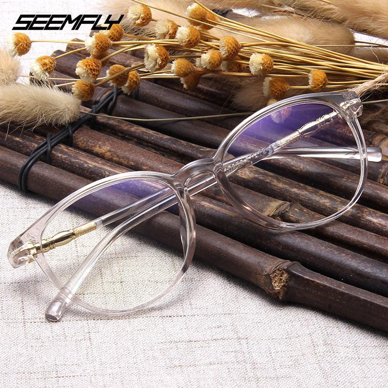 Seemfly Glasses Frame Men Women Fashion Vintage Ultralight Spectacles Clear Lens Male Female Eyewear Colorful Retro Eyeglasses