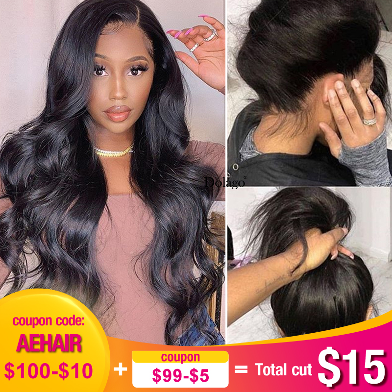 Body Wave Glueless Full Lace Human Hair Wigs 250 Density Transparent Brazilian Lace Wig With Baby Hair Fake Scalp Dolago Remy