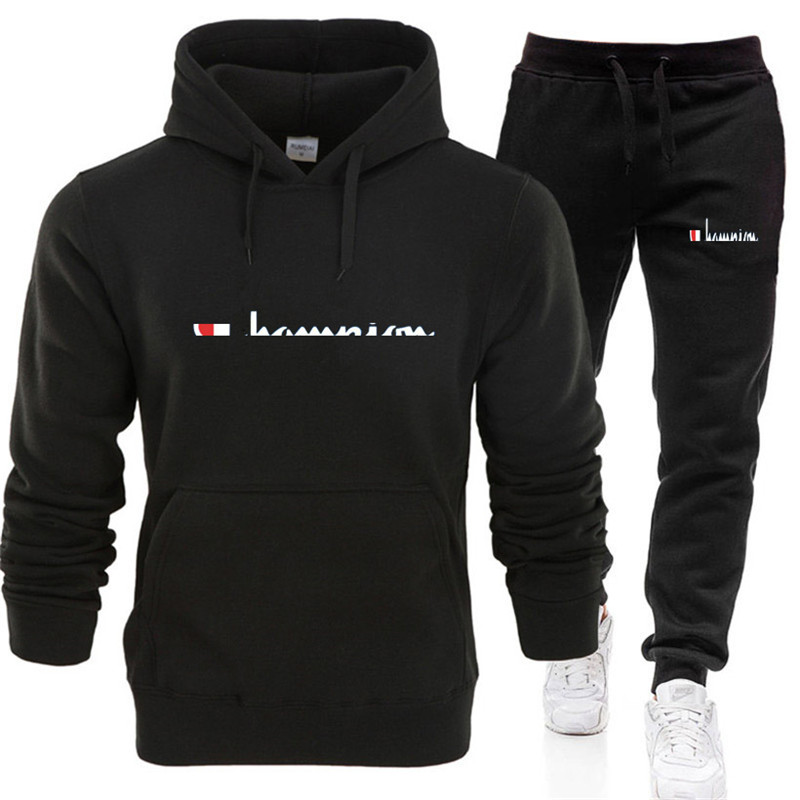 2020 Spring Leisure Men's Sports Suit Pullover Sweater Men's Running Suit Fashion Trend Cotton Men's Wear