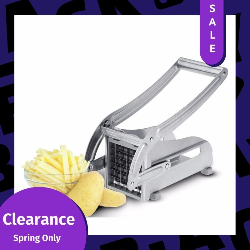 ADOREHOUSE Potato Cutter Stainless Steel Potato Chips Making Machine French Fry Cutters Vegetable Slicer Kitchen Gadgets Tools