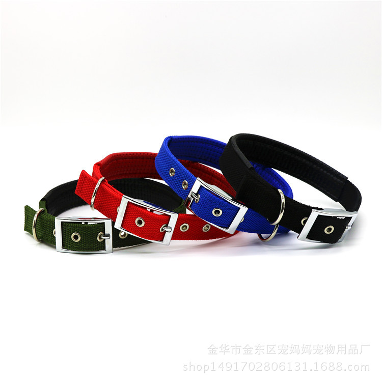 Alloy Pet Collar Foam Nylon Dog Neck Ring Cat Collar Medium And Small Dog Supplies