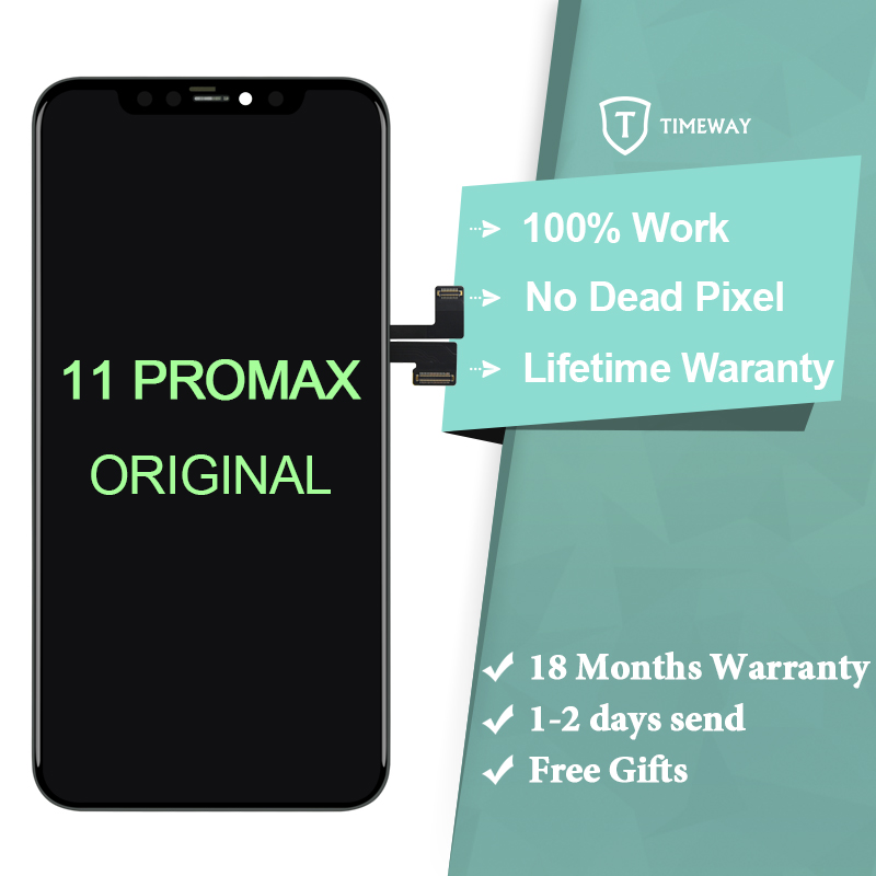 For iPhone 11ProMax LCD Display Original Mobile Phone Screen Digitizer For iPhone 11 Pro Max  For iPhone X Assembly  With Tools