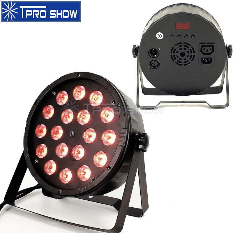 RGBW LED Par Light 18x12W Flat DJ Light Equipment Dmx Stage Lighting Effect For Wedding Party Club 18x3W Slim Par LED RGB Option