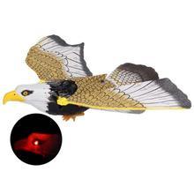 Электронный Орел слинг парящий птица модель с светодиодный звуковая детская игрушка в подарок Электрический 360 градусов Летающий орел