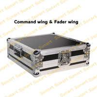 Consola de Controlador de luz de efectos de escenario ala del fader command wing con caja de vuelo para DJ disco fader envío gratis