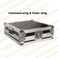 Free shipping MA Fader wing command wing stage effect light controller console with flight case for DJ disco fader