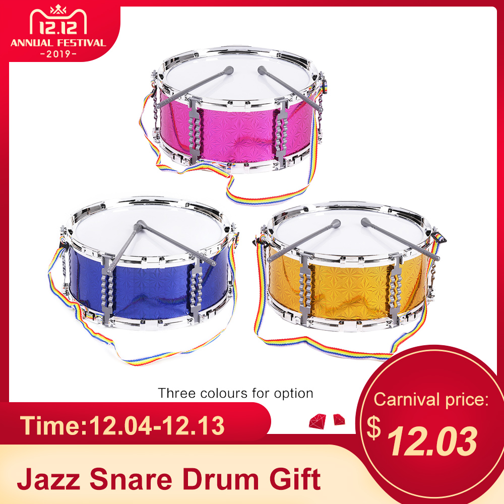 Wood Drum with Neck Strap Drumstick  Marching Christmas Toy Soldier Accessory