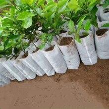 100 шт рассады мешки для питомника органические биоразлагаемые мешки для выращивания ткани экологически чистые проветриваемые мешки для выращивания растений