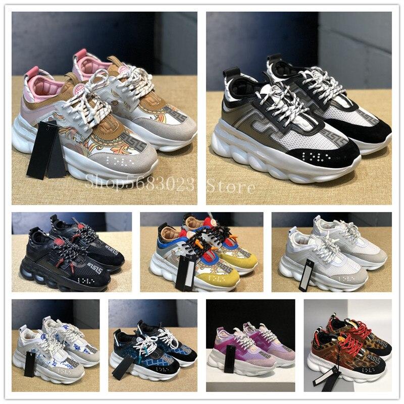 Новое поступление браслет для мужчин и женщин реакции дизайнерская обувь; Замшевые кожаные туфли на плоской подошве, кроссовки для пешего т...