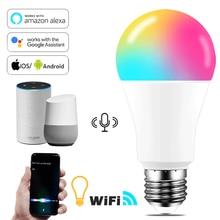 E27 B22 Wifi умный светодиодный светильник лампа 15 Вт интеллигентная предупредить светильник ing с регулируемой яркостью Светодиодная лампа прил...