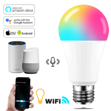 E27 B22 Wifi Smart LED Light Bulb 15W Intellegent Warn Lighting Dimmable LED Lamp App Control Work with Alexa Google Assistant
